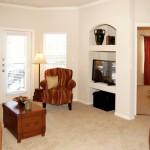 Amesbury Court Apartment Living Area