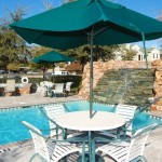 Amesbury Court Apartment Pool View