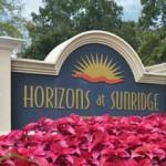 Horizons at Sunridge Apartment Signage