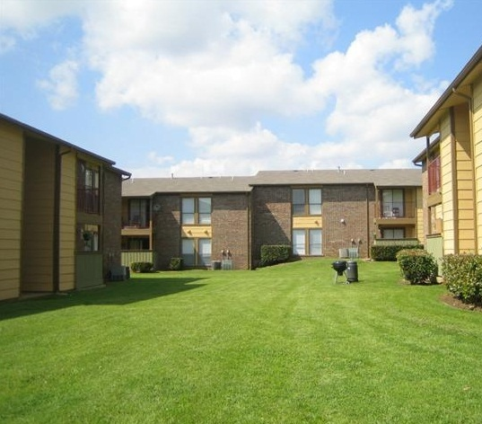 8500 Harwood Apartment Exterior. -