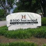 8500 Harwood Apartment Signage