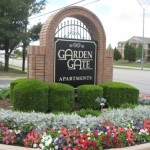 Garden Gate Apartment Signage
