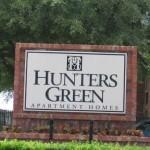Hunter's Green Apartment Pool Signage