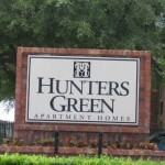 Hunter's Green Apartment Pool Signage