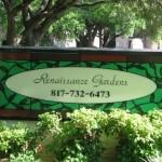 Renaissance Gardens Apartment Signage