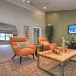 Villas of Oak Hill Resident lounge with HDTV's