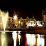 Watervue Sign Night View