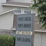 Westcreek Court Townhomes Sign